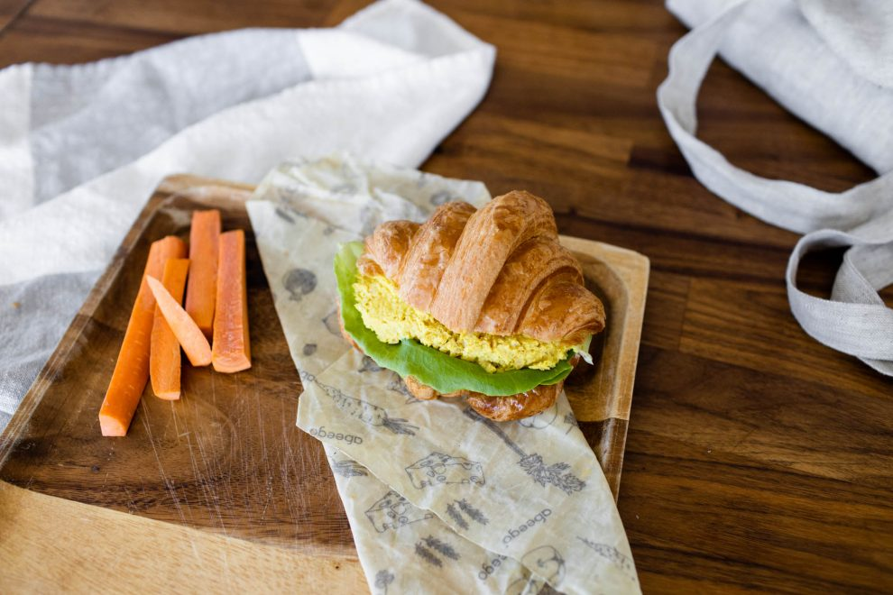 Arhoma boulangerie, croissant, boulangerie montréal, sandwich, idée de lunch, sandwich sur croissants