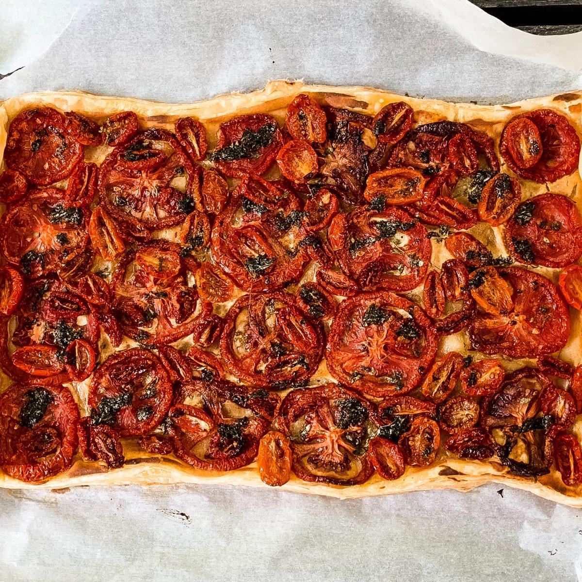 boulangerie montréal,recette arhoma,Tarte à la tomate, Arhoma boulangerie, pâte feuilletée arhoma